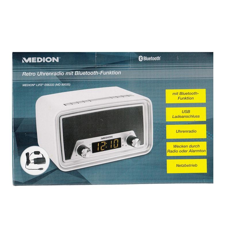 Medion life e66333 md80035 retro uhrenradio mit bluetooth for Md 99334 bedienungsanleitung