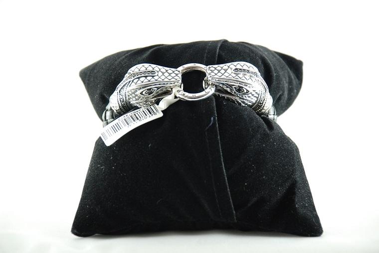 thomas sabo lederarmband schlangenkopf lb47 019 11 m gr e. Black Bedroom Furniture Sets. Home Design Ideas